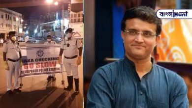 Photo of Board President Sourav Ganguly tweeted about the Kolkata police's fight against Corona.