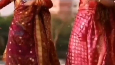 Photo of Viral Video: Wearing saree, open hair, two beautiful legs matched with 'Rhinoceros flowers'