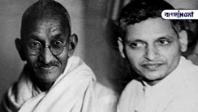 Photo of ABVP member cloned Nathuram's picture instead of Gandhi for money and posted it on Facebook