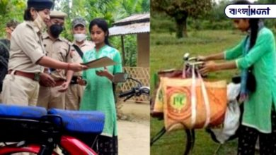 Photo of He was selling vegetables on a bicycle to run the house, and the police gave him a bike as a gift