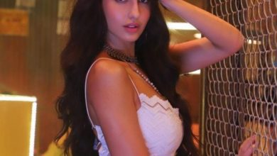 Photo of Nora Fatehi captivated with belly dance to the beat of Hindi song