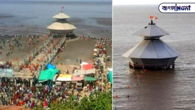 Photo of One of the strangest Shiva temples in India that is visited twice a day and sinks into the sea