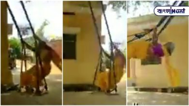 Photo of Viral video: 7-year-old woman is swinging on a swing like a teenager by beating her age!