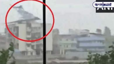 Photo of The roof of a multi-storey house was blown away by the cosmic storm in Mumbai! Violent viral video on social media