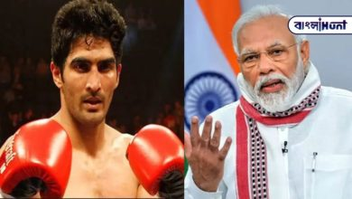 """Photo of """"If the people want money, the Modi government is addicted to religion,"""" said boxer Vijender."""