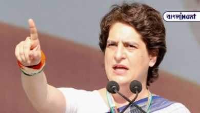 """Photo of """"As long as there is no justice, we will continue this fight,"""" shouted Priyanka Gandhi at Heathrow."""