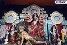 Photo of Durgapujo of Bahrampur goes viral on social media overnight by making Jinping a demon, see photo.