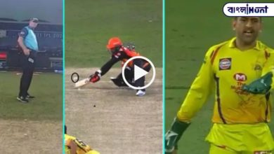 Photo of The umpire did not give Dhoni a clean wide ball for fear of reddening his eyes, watch the video