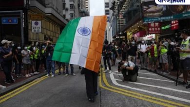 Photo of The national flag of India is hoisted in Hong Kong on China's State Day