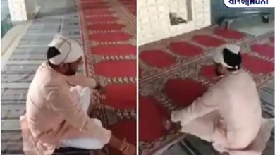 Photo of BJP leader recites Gayatri mantra in mosque with Maulana's permission to maintain harmony